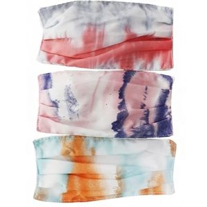 Tie Dye Pleated Cotton Mask 3 for $18